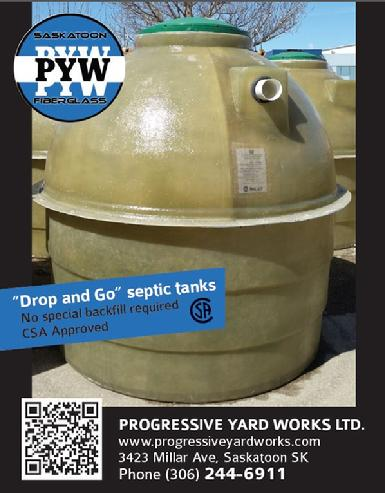 Progressive Yard Works LTD -Fiberglass Septic and Water tanks, and